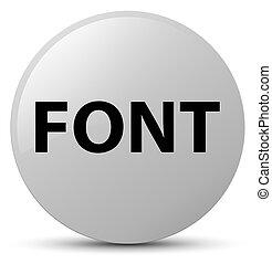Font white round button