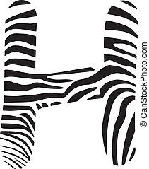Font zebra, letter H