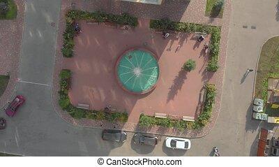fontaine, bâtiments, résidentiel
