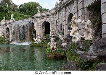fontaine, caserta, palais, royal