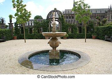 fontaine, château, arundel, jardin