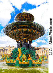 fontaine, dans, paris