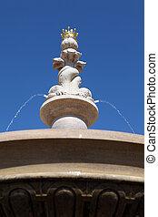 fontaine eau, caractéristique jardin