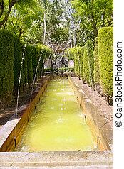 fontaine of Hort del Rei gardens Palma de Mallorca near...