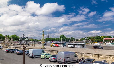 Fontaines de la Concorde and Luxor Obelisk at the center of...