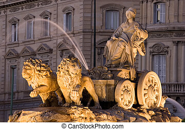 fontana cibeles, madrid, spagna