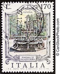 Fontana di palazzo Doria postage stamp