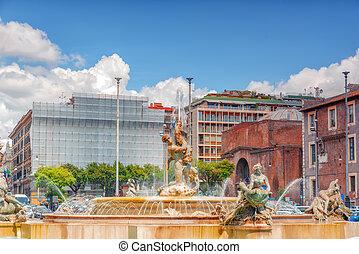 Fontana Esedra on Republic Square (Piazza della Repubblica) in Rome, Italy.