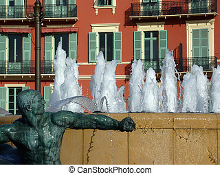 fontana, in, bello