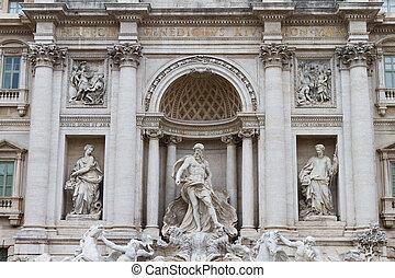 fontana, rom, trevi, italien, di