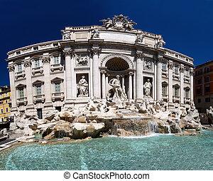 fontana, trevi, ローマ, ∥ディ∥