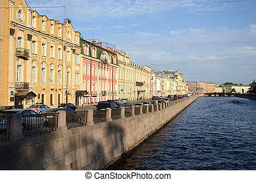 Fontanka canal in Saint-Petersburg