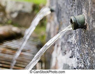 fonte água, detalhe