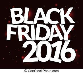 fonte, arrojado, sexta-feira, desenho, pretas, branca, 2016