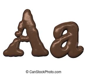 fonte, chocolate