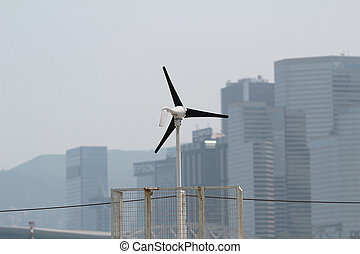 fonte energia, turbina, vento, future., rinnovabile
