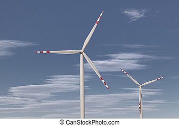 fonte, energia, turbinas, vento