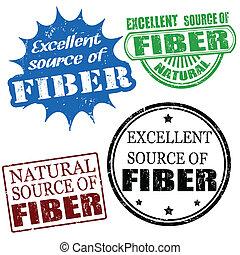 fonte excelente fibra, selos