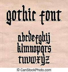 fonte, gótico