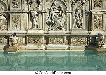Fonte Gaia Fountain in Siena (Tuscany, Italy) - The Fonte ...