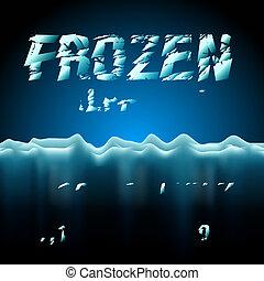 fonte, gelo, cobrança