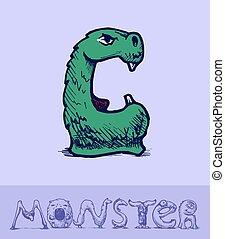 fonte, monstro