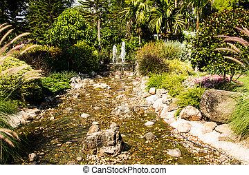 fontein tuin, design.