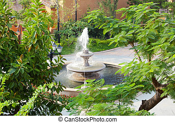 fontein tuin