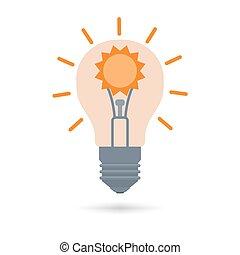 fontes, alternativa, conceito, energia