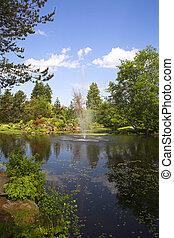fontijn, botanische tuin