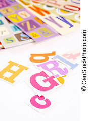fonts - different types of font alphabet stickers for...