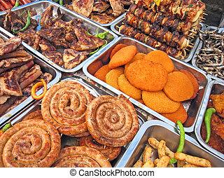 Food abundance - In one free market from Timisoara, Romania...