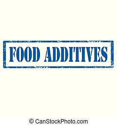 Food Additives-stamp - Grunge rubber stamp with text Food...