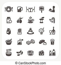 Food and Dessert icons set