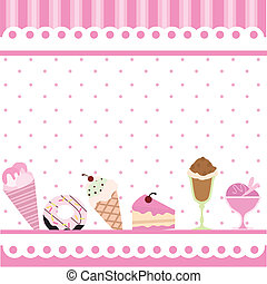 food and desserts background for birthdays, party, food ...