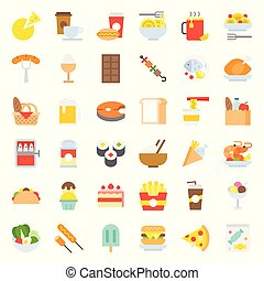 food and drink icon, gastronomy concept flat design