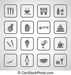 food and drink icon on gray background