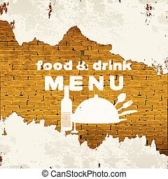 food and drink menu on the the brickwork