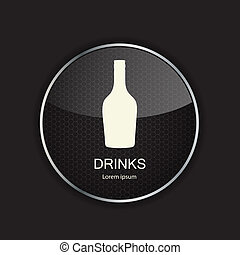Food and drink metal application icons