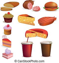 Food and drink, vector set - Food and drink vector set