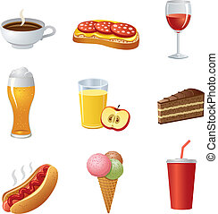 food and drinkl icon set
