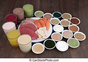 Food and Drinks for Body Builders