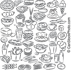 food and drinks - vector illustration of food and drink...