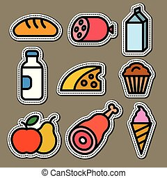 food and grocery stickers