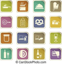 Food and kitchen icons set - Food and kitchen symbol for web...
