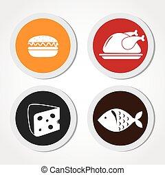 Food and restaurant design, vector illustration.