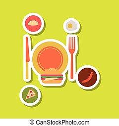 Food and restaurant design, vector illustration