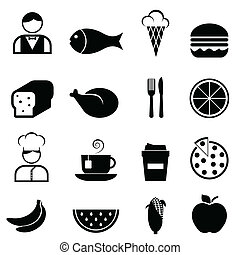 Food and restaurant icons - Food and restaurant icon set