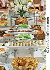 food at buffet dinner