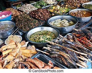 Food at kandal Market in Phnom Penh